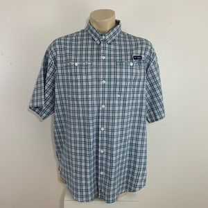 Columbia PFG Omni Shade Vented Plaid shirt XXL